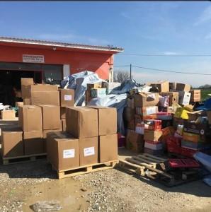 Hilfsgüter sind angekommen (Quelle:twitter/Heimatstern e.V)